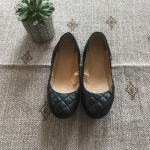 Cole Haan Black quilted leather ballet flats 9.5